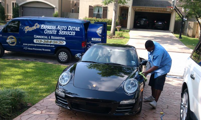 Paul's Express Auto detail onsite